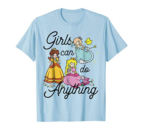Super Mario Peach Daisy Rosalina Group Shot Graphic T-Shirt for $<!--$22.99-->