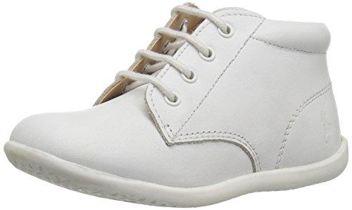 Polo Ralph Lauren Kids Baby Kinley First Walker Shoe, White Leather, 6 Medium US - Polo Walker