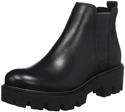 Marco Tozzi Damen 25481 Chelsea Boots Schwarz (Black Nappa)