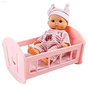 WolVol Set of 6 Mini Dolls for Girls with Cradle, High Chair, Walker, Swing, Bathtub, Infant seat by WolVol that we recomend individually.