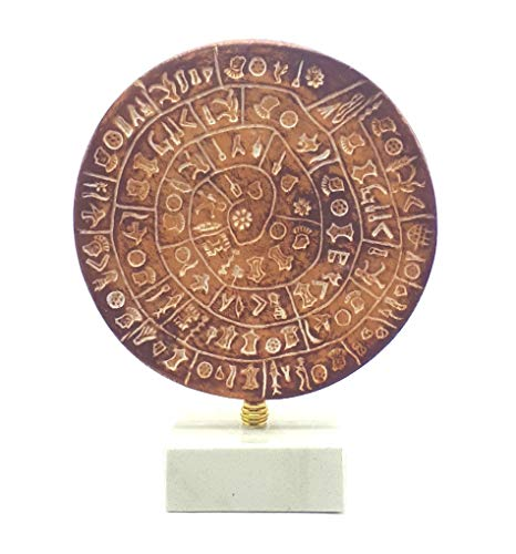 - greekartshop PHAISTOS Disk Museum Replica Minoan Palace 1700B.C. The First Movable Type