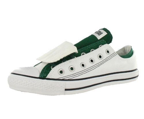 Converse Men's All Star Chuck Taylor Double Upper Ox Casual Shoe White, Green (5)