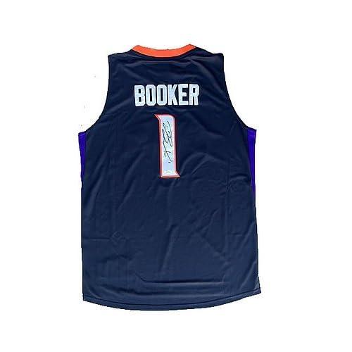 low priced d6257 fd2b9 Devin Booker Phoenix Suns (Alternate Black) Autographed ...