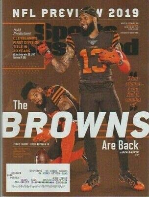 Sports Illustrated Magazine (August 26, 2019 - September 2, 2019) The Browns Are Back Jarvis Landry and Odell Beckham Jr.