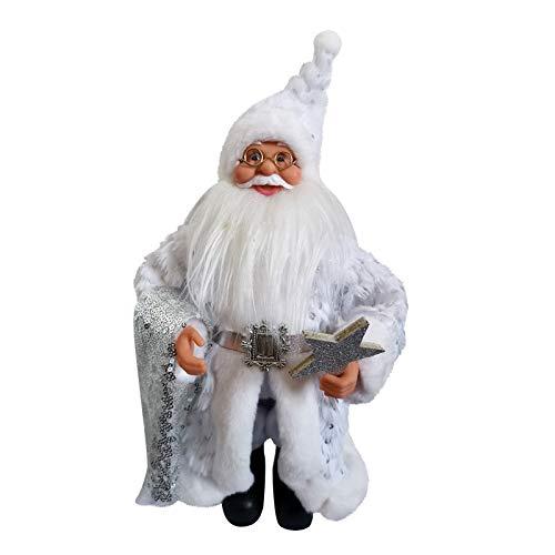 Clacce 30 cm groß Santa Claus Weihnachtspuppe Santa Claus Desktop-Dekoration Handgemachte Santa Claus Dekorationen, Santa Claus Spielzeug, Weihnachtsdekoration Artikel 6 Auswahl