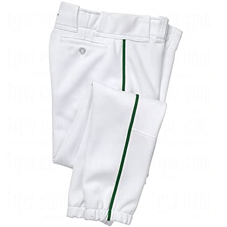 bcc58875fa927 Easton Boys' Youth Pro Plus Baseball Pants (White/Dark Green, Youth Large