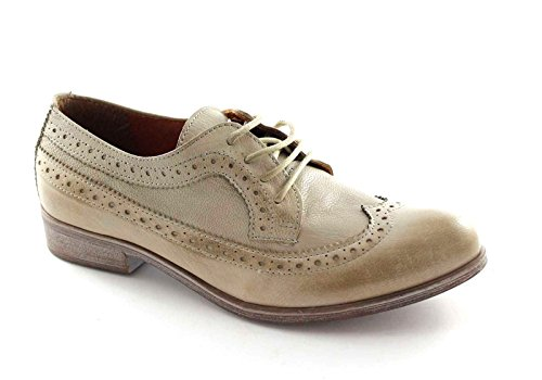 Divina Inglese Donna Lacci Berby Puntale Scarpe Beige Follie 14383 Taupe vaWvdO