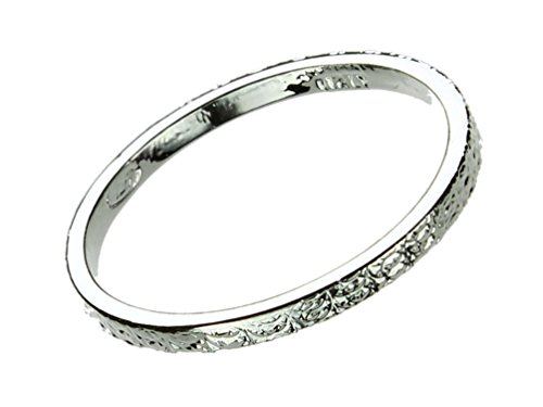 Sterling Stackable Wedding Hammered Italian
