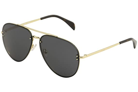 b6a5944907 Image Unavailable. Image not available for. Color  Celine Metal Aviator  Sunglasses ...