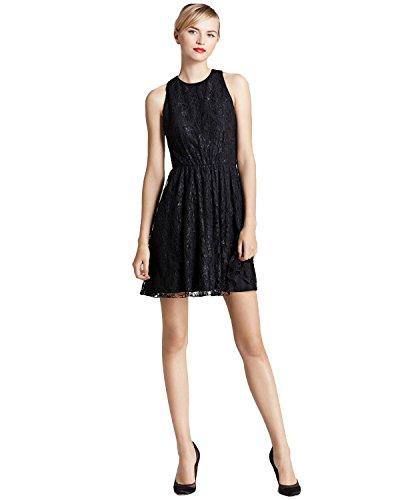 alice and olivia black leather dress - 8