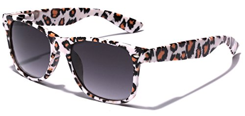 Children Colorful Animal Print Wayfarer Sunglasses Age 6-14 - White & - On Sunglasses Print