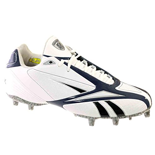 Reebok PRO BURNER SPD III LOW M3 Mens Football Shoes White Navy Black 10 M bXdf6FKtR
