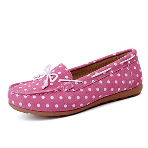 Shoes Pink Style Flats Moccasins Loafers Wave Point on Slip Jim August Ballet Basic Women g77qO1