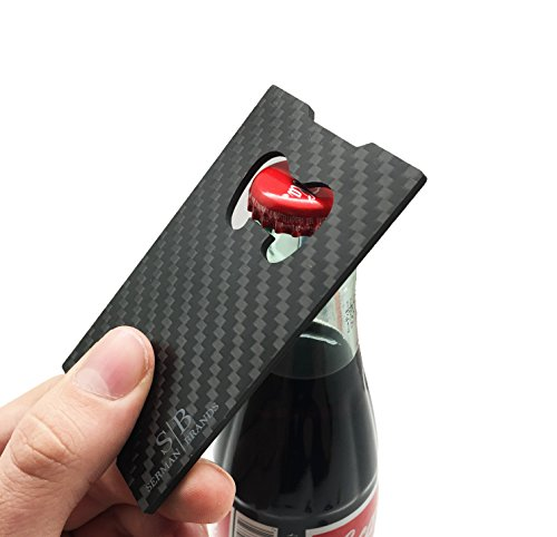 carbon fiber money clip credit card holder slim front pocket minimalist wallet emergency. Black Bedroom Furniture Sets. Home Design Ideas