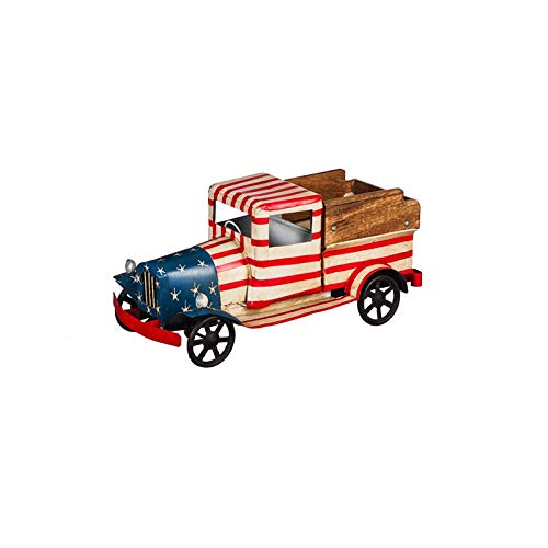 Cape Craftsmen Small Americana Red, White, and Blue Metal Truck Planter