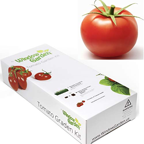 Window Garden - Vegetable Starter Kit - Grow Your Own Food. Germinate Seeds on Your Windowsill Then Move to a Patio Planter or Vegetable Patch. Mini Greenhouse System - Easy. (Tomato) (Kit Tomato Starter)
