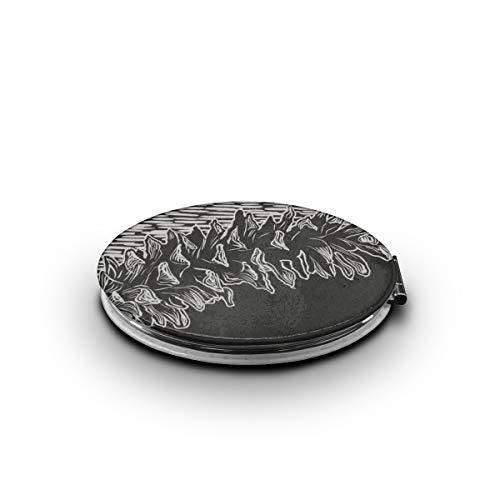 KEIOO White Sketch Pine Cones Makeup Mirror Mini Compact Pocket-Size Travel Mirror Portable Folding Cosmetic Mirrors