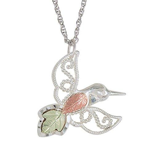 Black Hills Gold Hummingbird Pendant - Black Hills Hummingbird Pendant Necklace in Sterling Silver