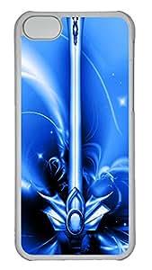 iPhone 5C Case Free Blue Excalibur PC iPhone 5C Case Cover Transparent
