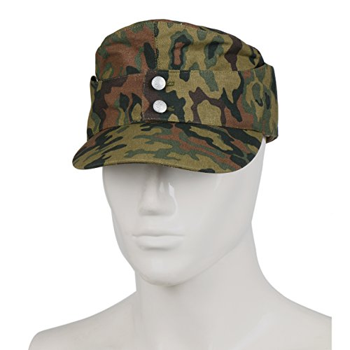 Heerpoint Reproduction WWII German oak camo spring cap hat (M)