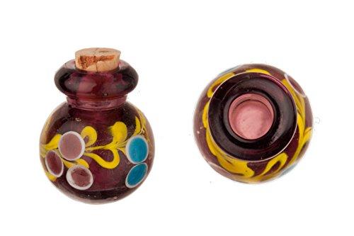Aryballos Purple Perfume Bottle Lampworked Glass Pendant