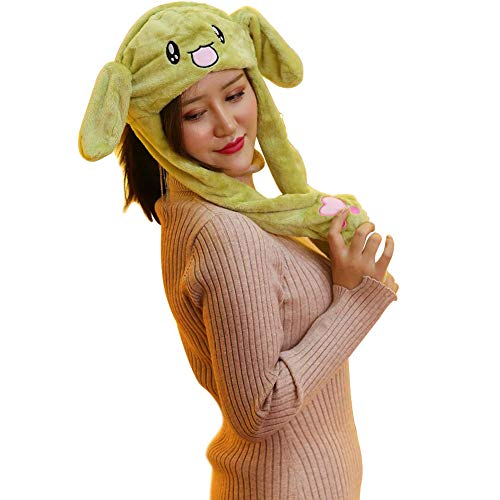 Funny Plush Animal Ear Moving Jumping Hat Novelty Party Dress up Cosplay for Kid ()
