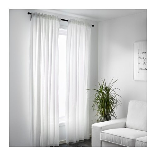 IKEA ASIA VIVAN Curtains 1 Pair White
