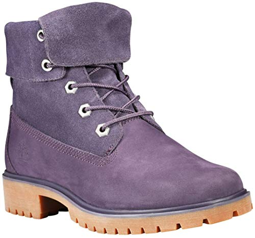 Timberland Womens Jayne Suede Fold Down Boot, Dark Purple Nubuck, Size 9.5