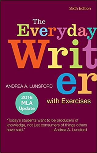 amazon com everyday writer with exercises with 2016 mla update