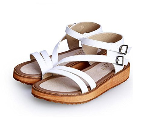 caseros para Sweet de Negro 43 Student Sandalias Antideslizante Blanco Summer Calzado Sandals Zapatos tamaño Fashion 34 Blanco Gran Marrón Color 43 DANDANJIE tamaño Mujer Blanco 5qvHxwOt