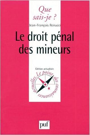 Télécharger en ligne Le Droit pénal des mineurs pdf, epub