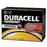 Duracell(R) Coppertop D Alkaline Batteries, Box Of 72