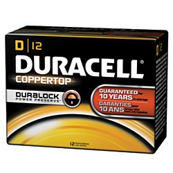 Duracell(R) Coppertop D Alkaline Batteries, Box Of 72 by Duracell
