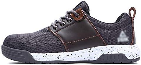 安全靴・作業靴 メンズ滑り止めスニーカーローウエストフラットシューズ超軽量通気性滑り止めスポーツランニングシューズカジュアルメッシュスポーツシューズ (色 : Brown, サイズ さいず : 39)