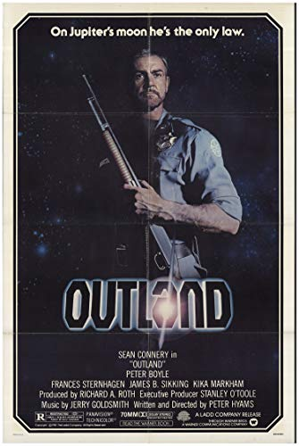 Outland 1981 Authentic 27″ x 41″ Original Movie Poster Sean Connery Thriller U.S. One Sheet