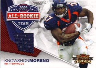 2010 Panini Threads All Rookie Knowshon Moreno Jersey