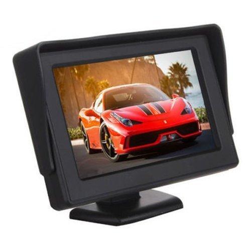 SODIAL(R)4.3 pulgadas Portatil Color LCD Coche Monitor de la pantalla de copia de seguridad SODIAL (R) 056619