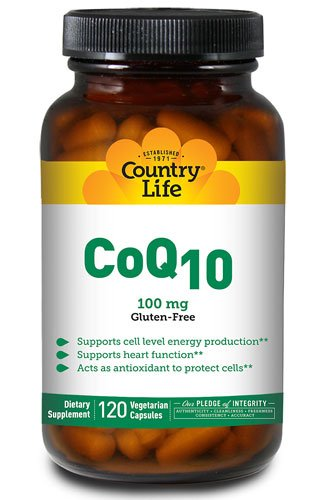 Country Life CoQ10 -- 100 mg - 120 Vegan Softgels - 3PC