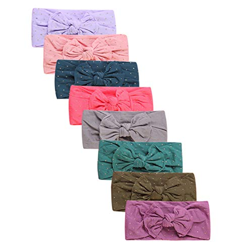 Newest Baby Nylon Elastic Headbands Turban Knotted Girl Hairbands Toddler Hair Accessories (Multicolor-CM04)