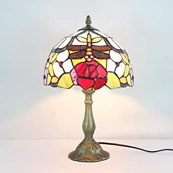 tiffany 12 inch dragonfly table lamp bedroom lamp bedside