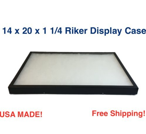 amazon com southern star riker display case 14 x 20 x 1 1 4 for