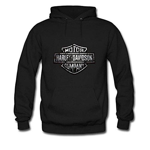 FSDXZCZ Mens Hoodies Rust harley davidson logo Black Size (Harley Hoodie)