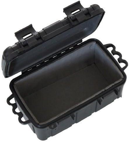 Inet-Trades - Caja de plástico, resistente al agua, 16,5 x 12 x 7,5 cm, color negro
