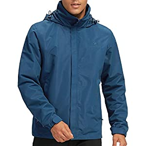 CAMEL CROWN Men's Waterproof Jackets Women's Hooded Raincoats Light Hiking Jacket Windbreaker Outwear for Unisex