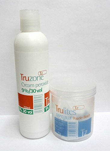 SETS OF TRUZONE CREAM PEROXIDE 9% (30 vol) 250ML & RAPID BLUE HAIR BLEACH...