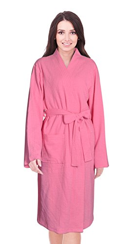 182fa96f86 Napa Women Bathrobe Kimono Waffle Robe Cotton