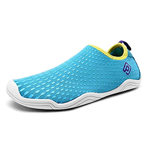 (DREAM PAIRS Women's 160933-W Blue Yellow Purple Slip On Athletic Water Shoes - 8 M US)