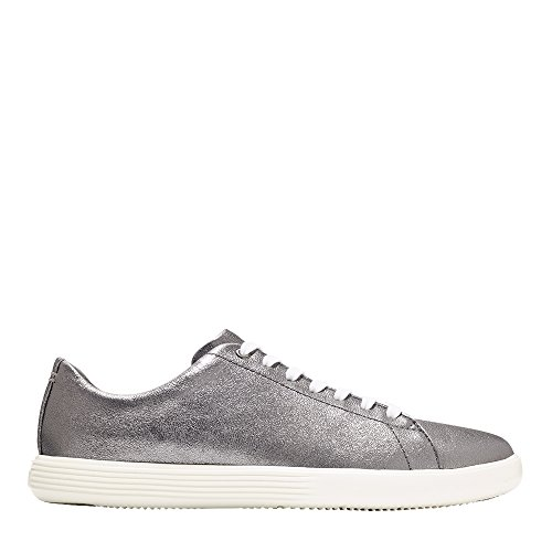 Gunmetal Haan Crosscourt Metallic Cole optic Grand White Sneaker Womens Leather vdXxxqCwt