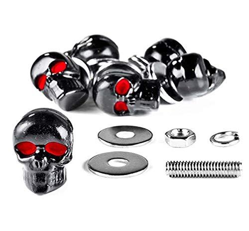 Custom Black Skeleton Skull Bolt Nuts Screws 5mm for, used for sale  Delivered anywhere in Canada