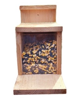 Munch Box Squirrel Feeder, Exciting and Fun Way to Feed Squirrels, Keeps Squirrels Away From Bird Feeders